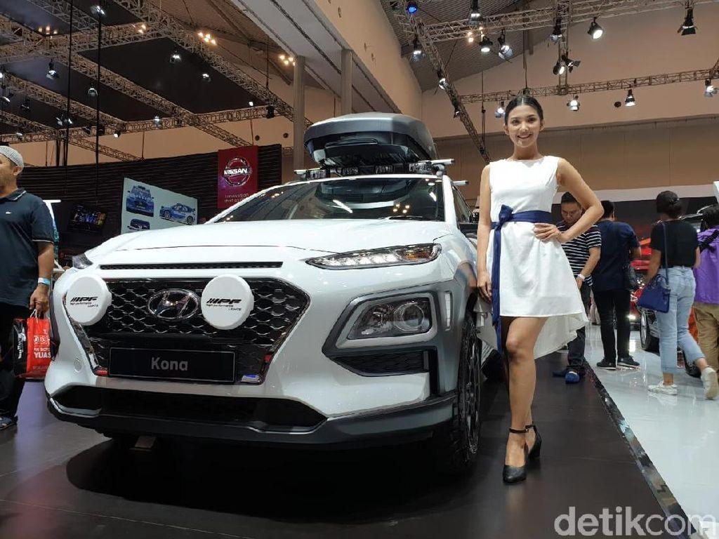 Berapa biaya yang harus dikeluarkan untuk modifikasi Hyundai Kona seperti ini? Kisarannya Rp 90 jutaan, terang Hendrik. Foto: Luthfi Anshori