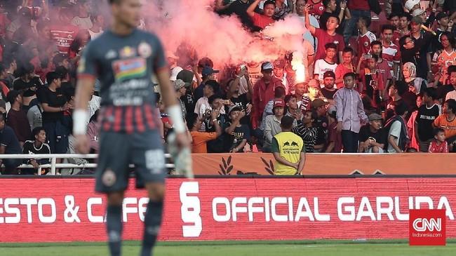 Ini menjadi modal positif bagi Persija Jakarta yang bakal bertolak ke Stadion Andi Mattalatta pada leg kedua, Minggu (28/7). (CNN Indonesia/Andry Novelino)