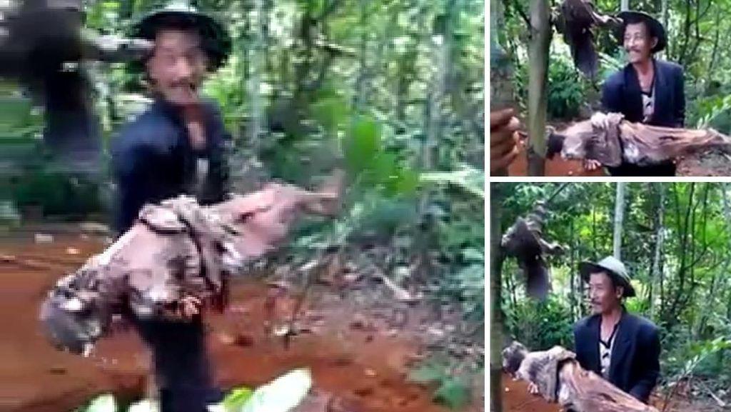 Geger Video Pria Cianjur Bongkar Makam dan Bopong Jasad Ayah