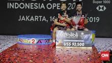 Juara Indonesia Open 2019, Kevin/Marcus Raja Istora