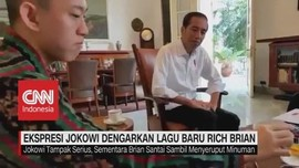 VIDEO: Ekspresi Jokowi Dengarkan Lagu Baru Rich Brian