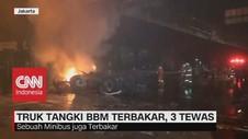 VIDEO: Truk Tangki BBM Terbakar, 3 Tewas