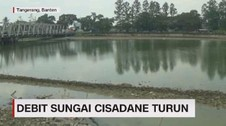 VIDEO: Debit Sungai Cisadane Turun