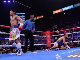 Kalahkan Thurman, Pacquiao Raih Gelar WBA Super