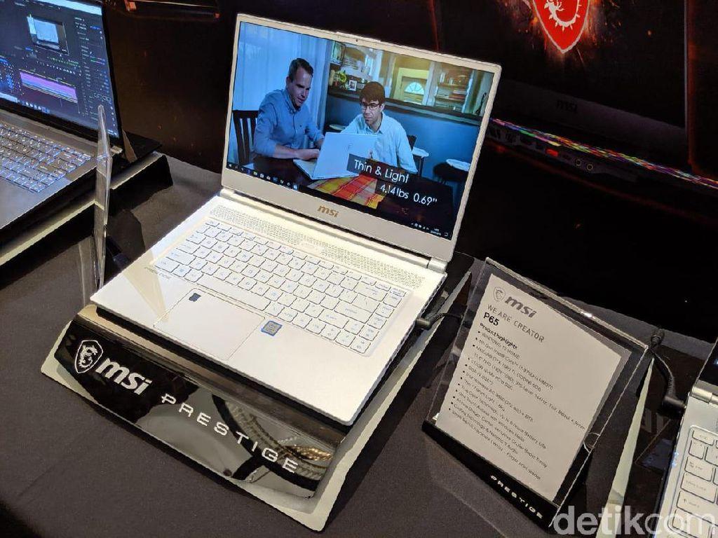 Ini Notebook Prestige PS65. (Foto: Adi Fida Rahman/detikINET)