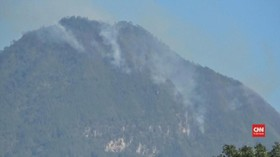 VIDEO: Gunung Panderman Kebakaran, Kegiatan Pendakian Ditutup