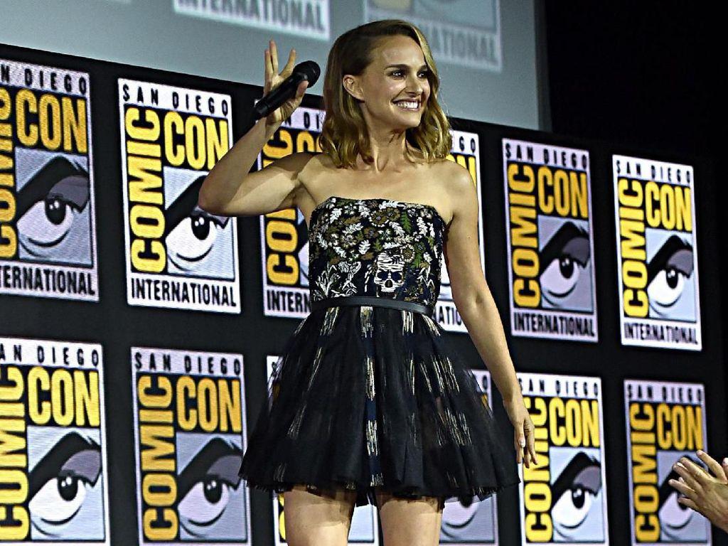 Natalie Portman saat menghadiri Marvel Comic Con di California, Amerika Serikat pada akhir pekan lalu.Alberto E. Rodriguez/Getty Images for Disney