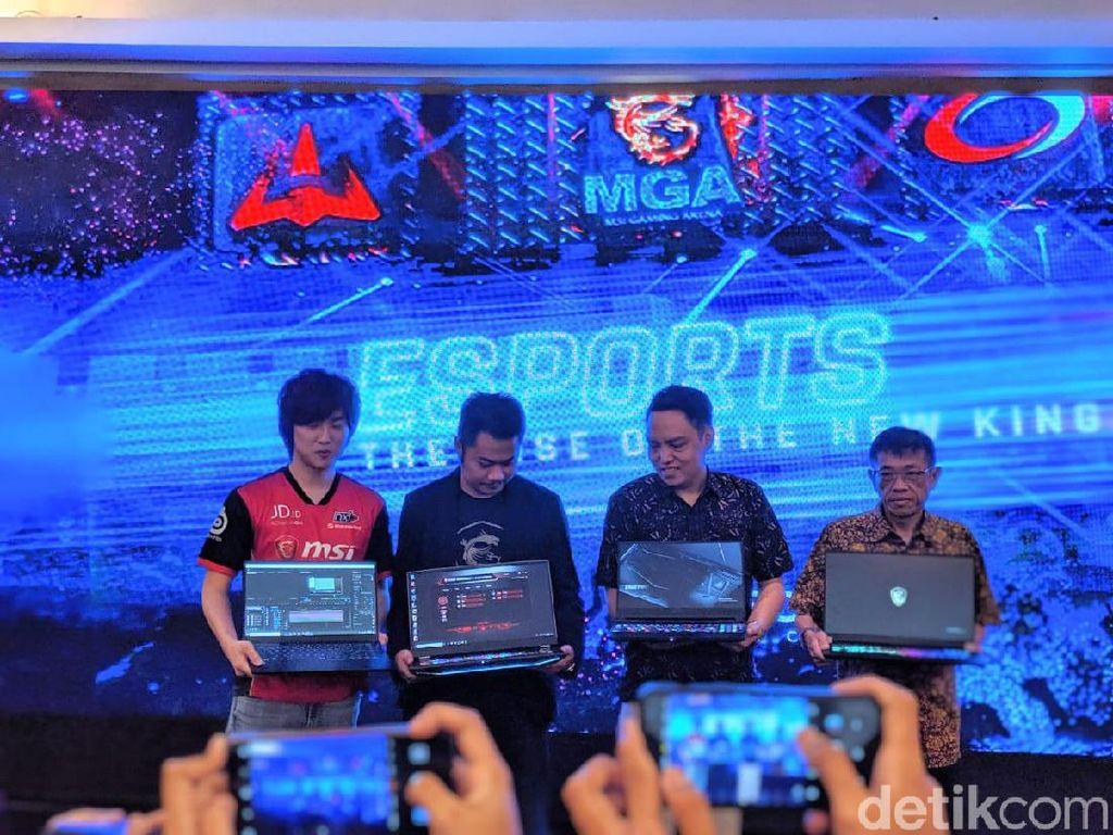 Empat notebook ini sempat mejeng di ajang Computex 2019, Taipei, Taiwan. (Foto: Adi Fida Rahman/detikINET)