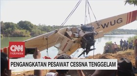 VIDEO: Pengangkatan Pesawat Cessna Tenggelam