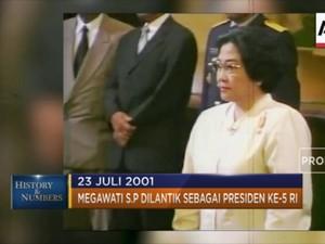 23 Juli 2001 Megawati Dilantik Sebagai Presiden Ke-5 RI