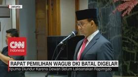 VIDEO: Rapat Pemilihan Wagub DKI Batal Digelar
