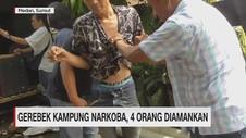 VIDEO: Gerebek Kampung Narkoba, 4 Orang Diamankan