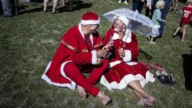 FOTO : Saat Santa Klaus 'Liburan Musim Dingin' di Kopenhagen
