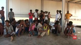 VIDEO: Kapal yang Membawa 200 Migran Terbalik di Libya