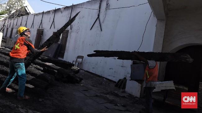 Perbaikan Museum Bahari dimulai per 1 Juli 2019, dengan menyasar dua zona terdampak kebakaran yakni Zona A dan Zona C. (CNN Indonesia/Hesti Rika)