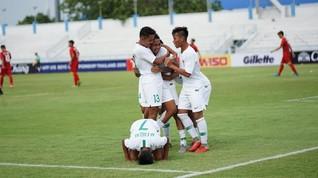 Babak I: Timnas Indonesia U-16 Unggul 1-0 atas Filipina