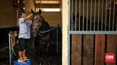 JIEP Pulomas menjadi Equestrian Park terbesar di Asia Tenggara dengan luas 32,25 hektare. Area field of play dan istal JIEP memiliki standar internasional. (CNN Indonesia/Hesti Rika)
