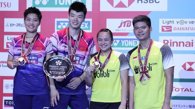 Wang/Huang selalu menang dalam enam pertemuan melawan Praveen/Melati. Tiga laga di antaranya terjadi pada babak final. (dok.PBSI)