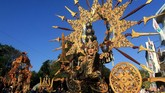 Bulan ini memang bulannya festival di Banyuwangi, mulai dari Banyuwangi Ijen Green Run, Festival Proses Kopi, Festival Smart Kampung hingga Banyuwangi Ethno Carnival yang menjadi puncak acara. (ANTARA FOTO/Budi Candra Setya)