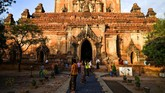 Berdiri sejak abad ke-9 sampai 13, komplek ini merupakan pusat pemerintahan Pagan, kerajaan pertama yang menjadi awal negara Myanmar. (AFP Photo/Ye Aung Thu)