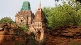 Pada tahun 1990an ribuan kuil yang rusak direstorasi oleh pihak militer Myanmar dan dibuka kembali sebagai objek wisata. (AFP Photo/Ye Aung Thu)