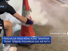 Begini Teknik Demonstran Hong Kong Padamkan Gas Air Mata