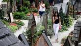 Pemakaman umum yang juga ramai dikunjungi di Hallstatt. (REUTERS/Lisi Niesner)