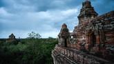 Setiap tahunnya sebanyak 300 ribu turis mancanegara mendatangi Bagan. (AFP Photo/Ye Aung Thu)
