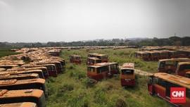 'Bangkai' Bus TransJakarta yang Kini Jadi Target Pencurian