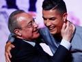 FOTO: Senyum Ronaldo Bersama Bos Real Madrid