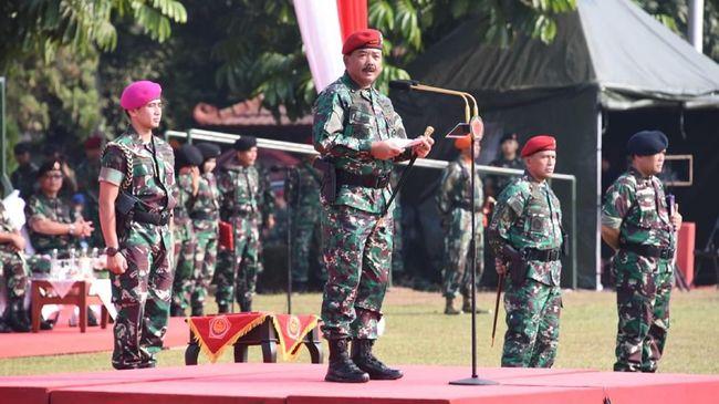 Panglima TNI Mutasi 56 Pati, Termasuk Suami Bella Saphira