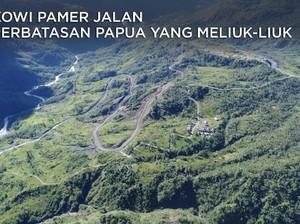 Jokowi Pamer Jalan di Perbatasan Papua yang Meliuk-liuk