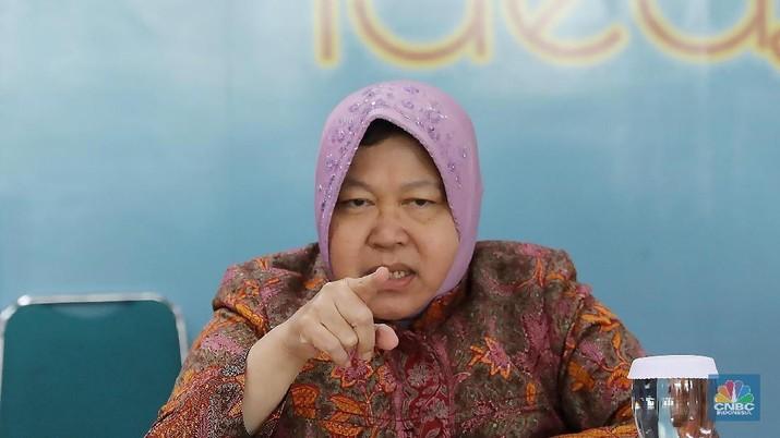 Wali Kota Surabaya Tri Rismaharini (CNBC Indonesia/Muhammad Sabki)