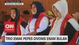 VIDEO: Trio Emak Pepes Divonis Enam Bulan