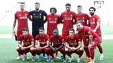 Manajer Liverpool Juergen Klopp sudah menampilkan beberapa pemain andalan, seperti Mohamed Salah, Roberto Firmino, Alisson Becker, sebagai starter dalam laga melawan Lyon. (REUTERS/Denis Balibouse)