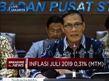 BPS : Permintaan Kembali Normal, Inflasi Juli 2019 Naik 0,31%