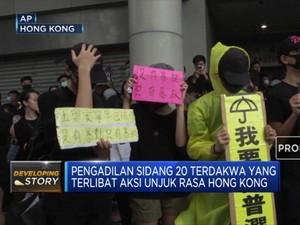 Puluhan Demonstran Hong Kong Diadili