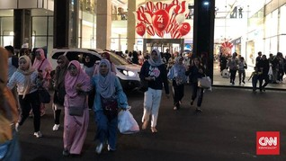 Gempa Banten, Pengunjung Berhamburan Keluar Mal