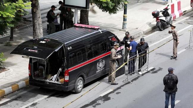 Kepolisian Thailand tengah menyelidiki laporan tersebut. Namun, hingga kini belum jelas di mana lokasi ledakan tersebut terjadi. (REUTERS/Soe Zeya Tun)