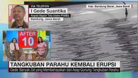 VIDEO: Gunung Tangkuban Parahu Kembali Erupsi
