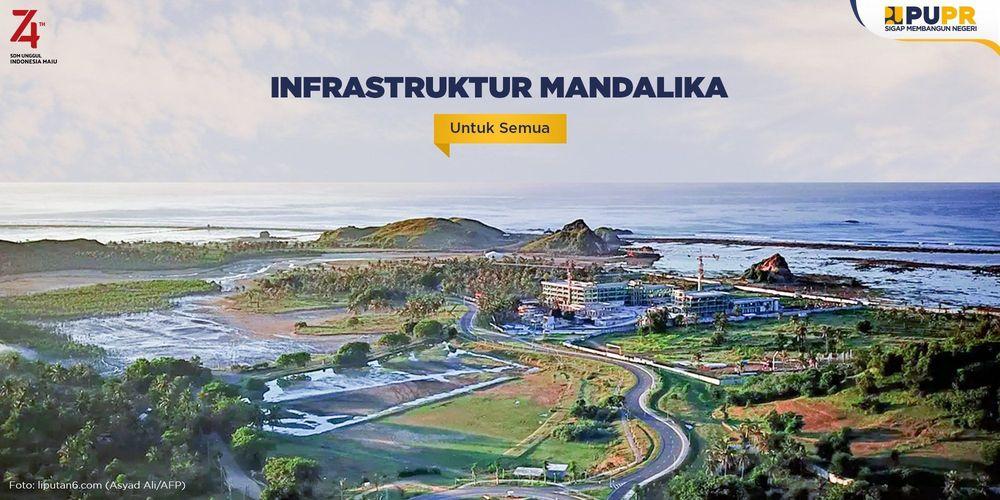 Tampilan infrastruktur Mandalika, provinsi NTB, yang akan menjadi salah satu sirkuit penyelenggara MotoGP.