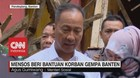 VIDEO: Mensos Beri Bantuan Korban Gempa Banten