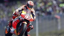 Hasil FP2 MotoGP Inggris: Sempat Jatuh, Marquez Tercepat