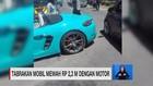 VIDEO: Mobil Mewah Ringsek, Tabrak Motor & Pohon
