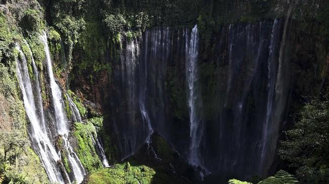 Air Terjun Tumpak Sewu memiliki formasi unik karena memiliki aliran air yang melebar seperti tirai, sehingga termasuk dalam tipe air terjun Tiered.