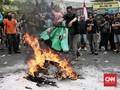 FOTO: Aksi 1.000 Pengemudi di Depan Kantor Gojek Indonesia