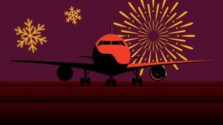 INFOGRAFIS: Harga Tiket Pesawat Wisata Natal dan Tahun Baru