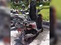 Motor Terbakar di Area Parkir Kementerian Luar Negeri