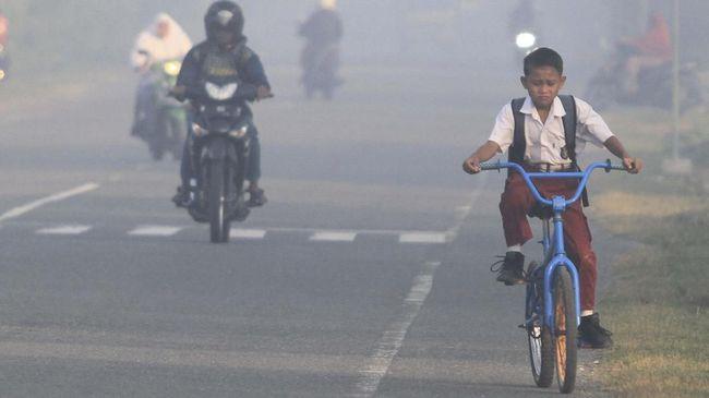 Udara Buruk Di Pekanbaru Libur Sekolah Diperpanjang