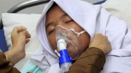 FOTO : Kabut Asap Karhutla Ancam Kesehatan Warga